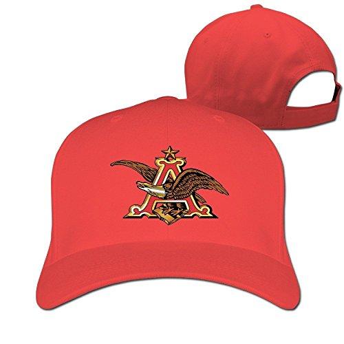 huseki-anheuser-busch-logo-hat-plain-baseball-cap-red