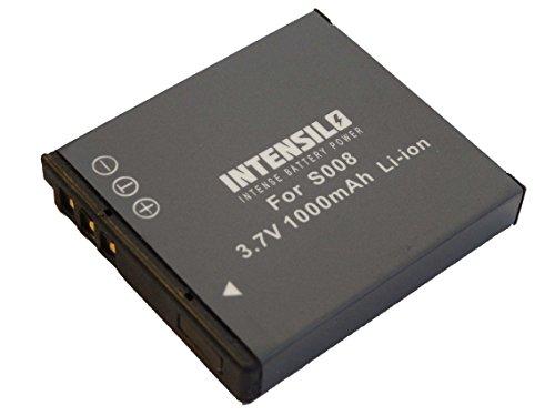 INTENSILO Li-Ion Akku 1000 mAh (3.7V) für Kamera Camcorder Video Panasonic Lumix DMC-FX37, DMC-FX55, DMC-FX500 wie VW-VBJ10, DMW-BCE10, BP-DC6.