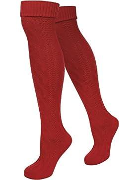 LANGE Trachtensocken Trachten Strümpfe für lederhosen Kniebund Socken Natur