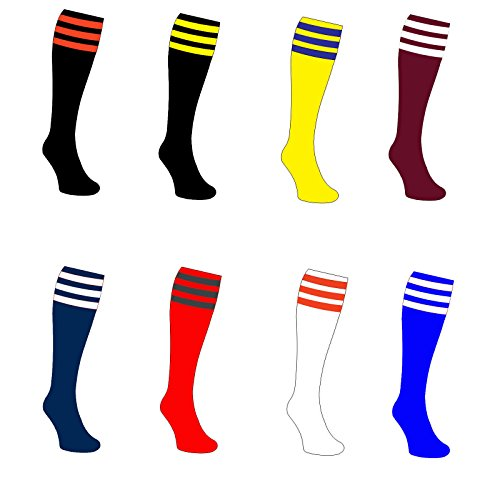 Training Contrast 3 Stripe Club Football Socks All Sizes And Colours rr£10