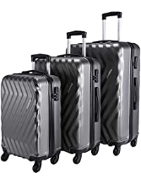 b1445e572107 Nasher Miles Lombard Hard-Side Luggage Set of 3 Trolley Luggage Bags (55