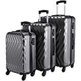 Nasher Miles Lombard Hard-Side Luggage Set of 3 Grey Trolley|Travel|Tourist Bags