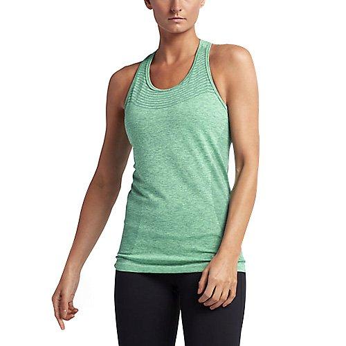 Nike Dri-Fit Knit Tank Damen-lauf-Tanktop, Hasta/Grünes Glühen, M (Dri-fit Knit Nike)