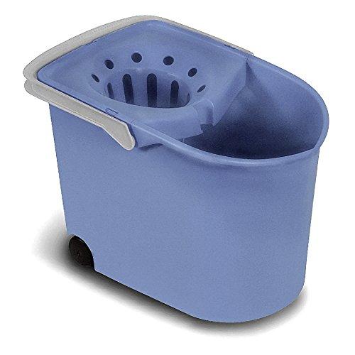Tatay Cubo de Fregar con Ruedas y Escurridor, Capacidad para 12 Litros, Color Azul