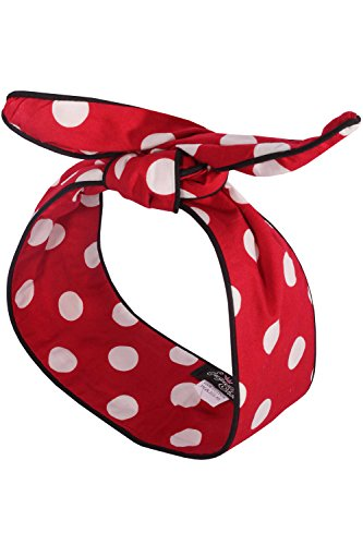 SugarShock Polka Dots Rockabilly Haarreif Pin up Punkte Frisuren Haarband