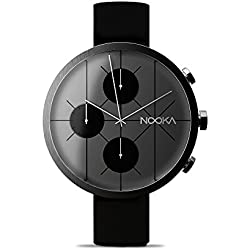 Nooka Nookrono Steel Chronograph 48 mm Big Silicone Band Watch