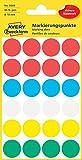 AVERY Zweckform 3089 Markierungspunkte (96 Stück, Ø 18 mm, 4 Blatt) farbig sortiert