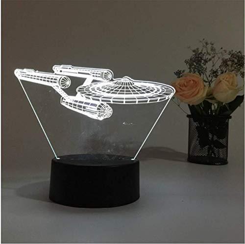 Raumschiff 3D Lampe Nachtlicht Für Kinder 7 Farben Ändern Led Illusion Atmosphäre Schlaf Licht Lampe Halloween Neuheit Geschenk
