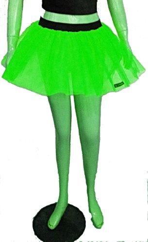 Dance Kostüme Hot (Neon UV Grün-Tutu-Petticoat-Rock Punk Rave Kostüm Kostüme Cyber Party Dance EU-kostenloser)