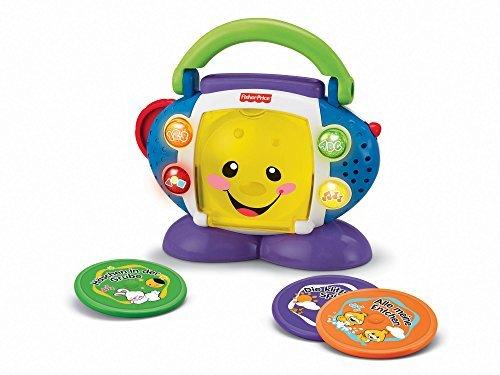 Fisher-Price P2672 Lernspaß CD-Spieler Lernspielzeug für Buchstaben Zahlen Formen und Farben mit Kinderliedern, ab 6 Monaten deutschsprachig