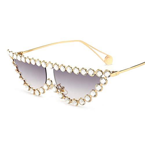 Yiph-Sunglass Sonnenbrillen Mode Personality Agiotage Sport Sonnenbrillen Polarisierte Linse 100 Prozent UV-Schutz (Farbe : Grau, Größe : Free Size)