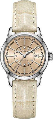 Hamilton Rail Road Lady Auto h40405821Damas Reloj de pulsera con diamante