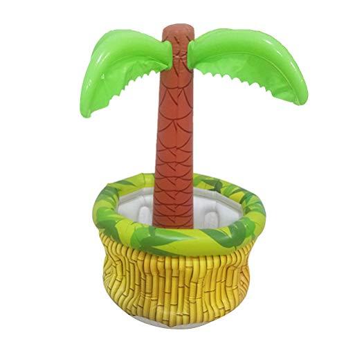 ooler Aufblasbarer Kokospalmenkühler Eiskübel Tischdekoration Bierkübel für Luau Hawaiian Summer Pool Party ()