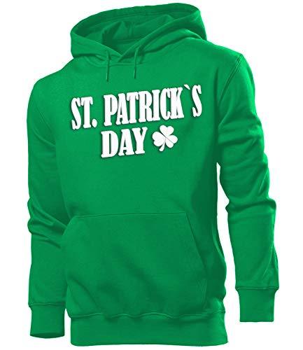 Mann Kostüm Green - St Patricks Day Kostüm 2577 Männer Costume Clothes Oberteil Green Hoodie Verkleidung Herren Kapuzen Pullover Sweatshirt Pulli Grün XXL