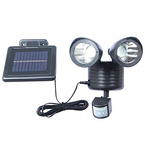 Benma Solarleuchten 22 LED Ultrahelle Solares Leuchte mit Bewegungsmelder (Kabel 16.5ft) 300Lumen für Garten, Terrasse, Wegbeleuchtung