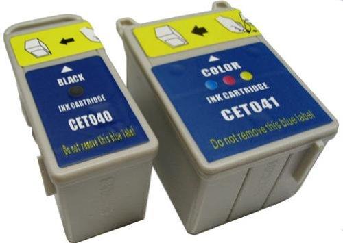4x Druckerpatronen kompatibel zu EPSON Stylus C62 CX3200