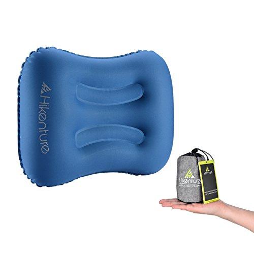 Hikenture Camping Kissen Leichtes Reisekissen - Aufblasbares Kopfkissen - Nackenkissen - Camping Pillow für Camping, Reise, Outdoor (Dunkelblau)