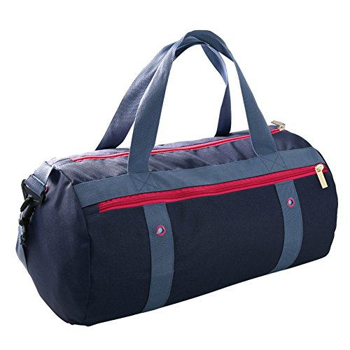 Sporttasche,Uleade Seesack Reisegepäck Duffel Taschen Sport Reisetaschen Gepäck Mit wasserabweisendem Stoff & Aufgefüllter Schultergurt für Frauen & Männer - Reise / Wochenendreise, Blau Marine