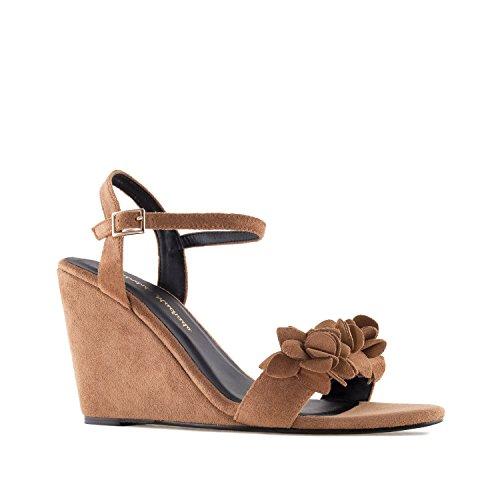 Andres Machado AM5261.Chaussures Suèdine.Pour Femmes.Petites et Grandes Pointures 32/35 et 42/45 Marron