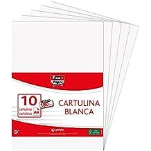 Fixo Paper 11110170 - Pack de 10 cartulinas blancas, A4, 180g/m²