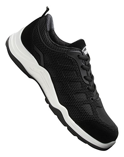 V12 Vital Active, Safety Trainer, 10 UK 44 EU, Multicolour (Black/White) (Dynamische Schuh Trainer)