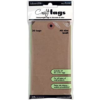 Inkssentials Surfaces Ranger Industries Craft Tag No. 8, Pack of 20