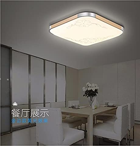 xiangxinLED ceiling lamp bedroom balcony kitchen guard, 45*45cm electrodeless dimming