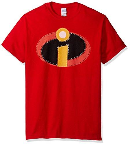 Disney Disfraz de los increíbles de la Hombres camiseta - Rojo -
