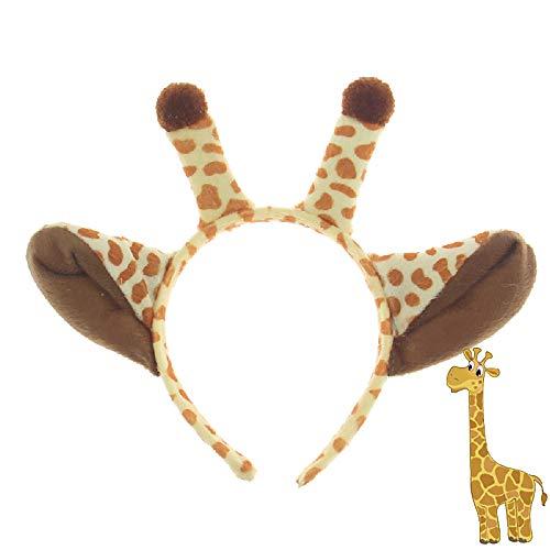 YXYXN Halloween Stirnbänder, Giraffe Tier Ohr Stirnband Haarband Cosplay Geburtstagsgeschenk Party Halloween Kostüm für Kinder Erwachsene Haarschmuck, 2 - Tot Freundin Kostüm