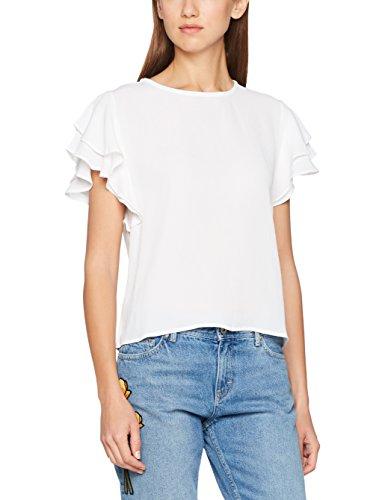 Tommy Jeans Hilfiger Denim Damen THDW RN Top S/S 16, Weiß (Bright White), Medium Preisvergleich