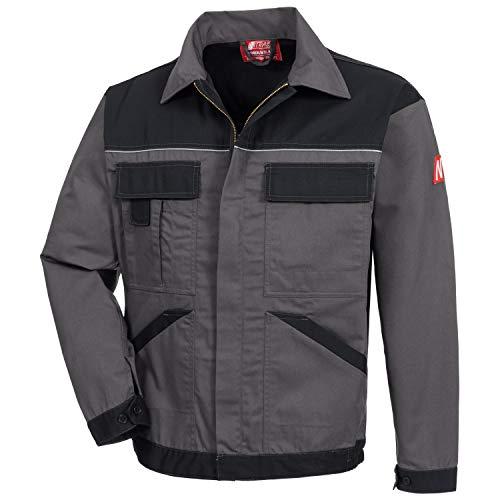 Nitras Motion TEX Light - Leichte Arbeitsjacke für Damen & Herren - Schutzjacke mit vielen Taschen - Arbeitsschutzjacke mit Reflexbiesen auf Brust und Rücken - Grau Größe 52