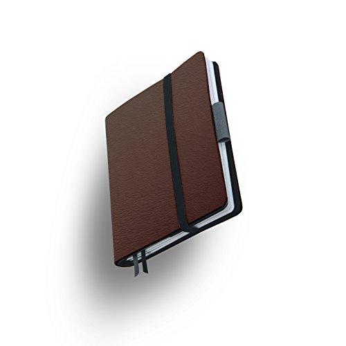 Whitebook SLIM S208-SX, modulares Notizbuch, Veaux Prestige, geschnitten, Capuchino, 120 S. Papier FSC