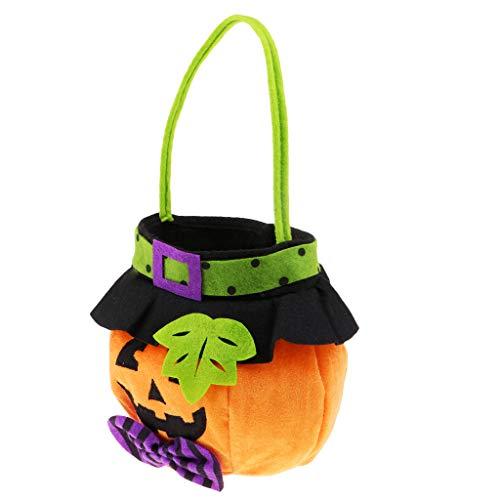 Homyl Stoff Kürbis Süßigkeitstasche Candy Bag Süßigkeiten Tasche Handtasche für Kinder