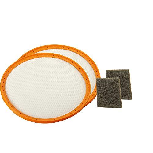 Filter-Set mit Vormotorfilter + Motorschutzfilter geeignet für Dirt Devil Centec 2, M2288, M2828, 2288002 (2 Stück) (Centec Staubsauger)
