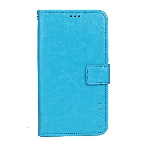 COVO® Wiko Tommy 3 Plus Hülle,Premium PU Schutzhülle,Brieftasche Handyhülle Tasche für Wiko Tommy 3 Plus(Blau)