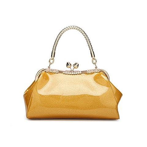 Mefly Leder Taschen Und Ledertaschen Neuen Hellen Neuen Trend Changierenden Gold