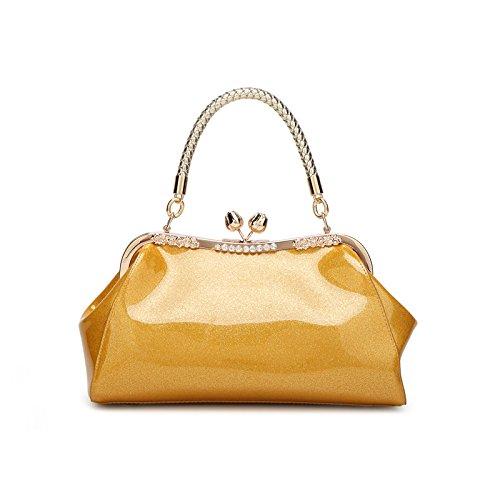 Mefly Leder Taschen Und Lederwaren Taschen Neue Helle Neue Trend Iridescent gold