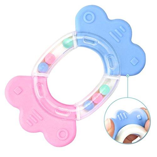 Preisvergleich Produktbild Baby Kleinkind Beißring Sicherheit Hand Schütteln Bell Ring lustige Pädagogisches Spielzeug (I)