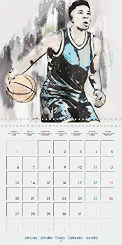 Actions de basket (Calendrier mural 2020 300 × 300 mm Square)
