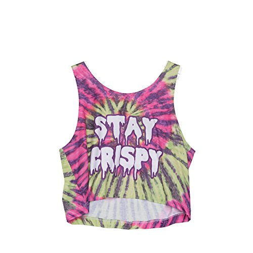 Fringoo Girls Ladies Crop Top Vest Summer Sleeveless Top Party Fashion Fresh Teenage Shirt