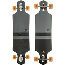 "Globe Longboard GLB-Geminon - Longboard, color negro (charcoal/black), talla 38,5"""