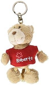 NICI n15836-Llavero Oso con Camiseta Roberta, Rojo