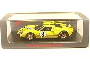 SPARK-Ford-MKII-Le Mans 1966Coche de ferrocarril de Collection, s5184, Amarillo/Negro