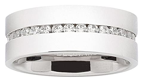 Leonardo Jewels Damen-Ring 18 klar edelstahl Glas Glizz 013981