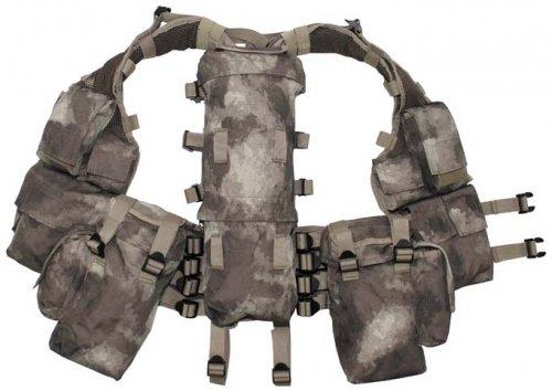 Max Fuchs Tactical Weste, mit vielen Taschen, HDT-camo des Herstellers MFH