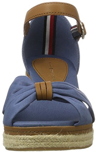 Tommy Hilfiger E1285lba 40d, Sandali con Zeppa Donna Blu (Jeans 013)