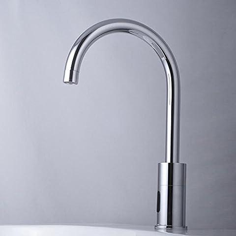 Luxury Classic Plumbing washBathroom hardware rubinetto di lavello con AC-DC induzione universale singolo rubinetto fredda CSÁSZÁR
