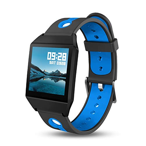 YDSHYDSH Fitness Tracker Smart Armband Blutdruckmessung Color Screen Fitness Tracker Watch Waterproof Ip68 Heart Rate Monitor GPS Tracker Blau