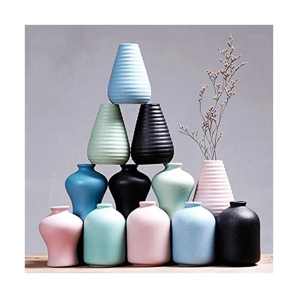 Cupcinu Arte Jarrón De Cerámica Color Sólido Estilo Simple Moderno Florero Decorativo Florero Jarrones de Mesa para la…