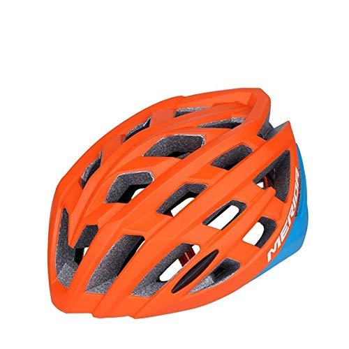 WRGWEHG Fahrradhelm Neuer Gebirgsfahrrad-Fahrradhelm/integrierte Formteil- / Radfahrenausrüstung/Schutzhelm für Männer und Frauen, Orange